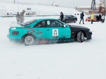 Sportwagen voor de concurrentie het Afdrijven Royalty-vrije Stock Foto's