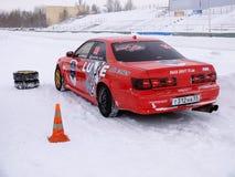 Sportwagen voor de concurrentie het Afdrijven Stock Foto