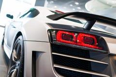 Sportwagen voor verkoop royalty-vrije stock foto