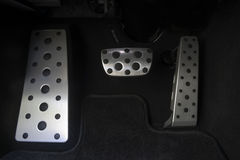 Sportwagenchrompedale Stockbilder