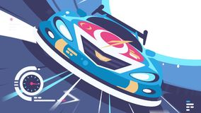Sportwagencompetities royalty-vrije illustratie