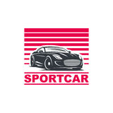 Sportwagenembleem Stock Afbeelding