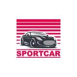 Sportwagenemblem Stockbild