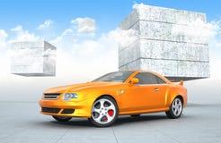Sportwagenpresetation Royalty-vrije Stock Afbeeldingen