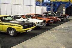 Sportwagenrij Stock Foto's