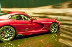 Sportwagens - de Rode Adder SRT 2013 van de Zijsprong Royalty-vrije Stock Afbeeldingen