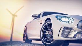 Sportwagenszene stockfotos