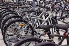 Sportwarenladenfahrräder lizenzfreie stockfotos