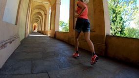 Sportwear kobiety bieg zdjęcie wideo