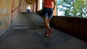Sportwearvrouw het lopen