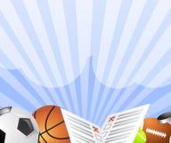 Sportwetten-Fahnenvektor Stockfotos