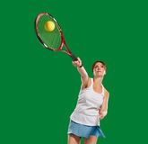 Sportwoman tennis player Stock Images