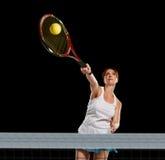 Sportwoman tennis player Stock Photo