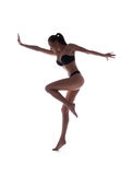Sporty женщина в бикини Стоковое Фото