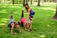 3 sporty женщины стоковые фотографии rf