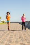 2 sporty женщины jogging совместно Стоковое Фото