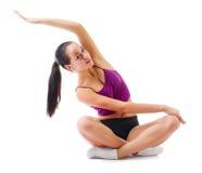 Sporty изолированная маленькая девочка Стоковое Изображение RF