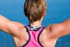Sporty работать женщины Стоковое Изображение