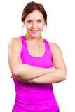 Sporty счастливая женщина Стоковое Фото