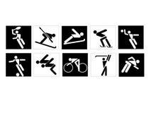 sporty. Zdjęcie Royalty Free