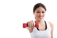 Sporty asian woman Stock Photo