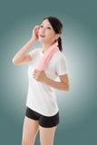 Sporty asian woman stock photo