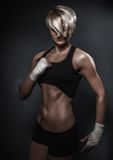 Sporty athletic woman Stock Images