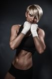 Sporty athletic woman Stock Photos