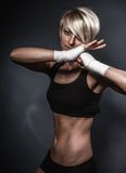 Sporty athletic woman Royalty Free Stock Image