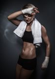 Sporty athletic woman Royalty Free Stock Photo