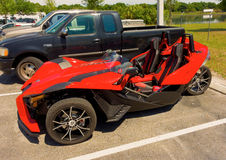 A sporty ATV parked in florida Stock Photo