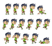 Sporty Boy Game Sprites Royalty Free Stock Photo