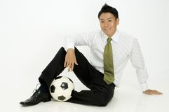 Sporty Businessman Stock Photography