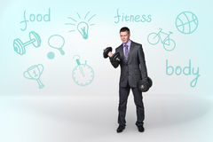 Sporty businessman Stock Images