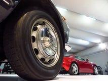 Sporty car garage Stock Photo