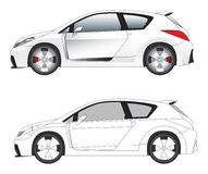 Sporty car illustration vector. Sporty hatchback car vector illustration Stock Photography
