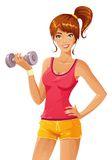 Sporty chick Stock Image