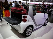 Sporty compact car at the auto show Stock Photo