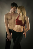 Sporty couple Royalty Free Stock Images