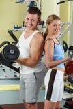 Sporty couple Royalty Free Stock Photo
