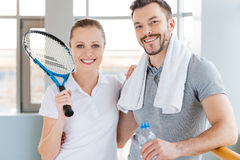 Sporty couple. Stock Photos