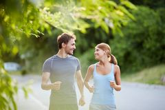 Sporty couple Stock Photo