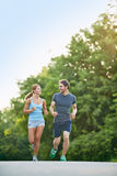 Sporty couple Royalty Free Stock Image