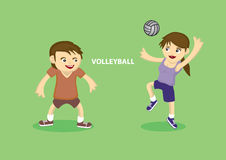 Sporty Couple playing volleyball Stock Photography