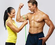 Sporty couple after training Royalty Free Stock Photography