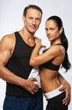 Sporty couple after training Royalty Free Stock Images