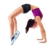 Sporty dziewczyna robi gimnastycznym ćwiczeniom Obraz Stock