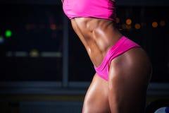 Sporty dziewczyna w gym Zdjęcie Stock