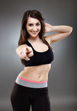 Sporty ethnic woman Royalty Free Stock Photography