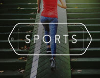 Sporty Exercise Action Active Athlete Leisure Concept Royalty Free Stock Photography